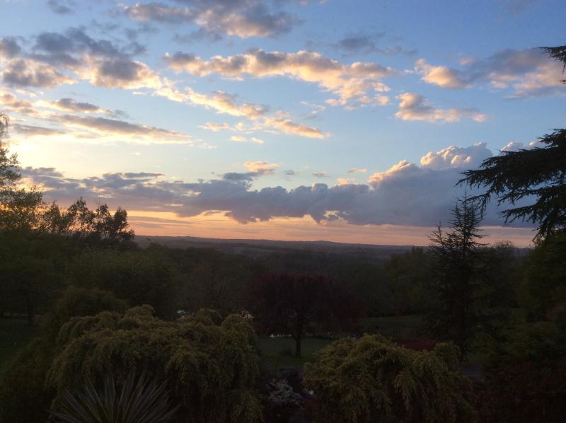 Sunset over Blackdown Cottage