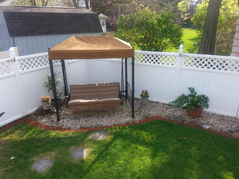 Beautiful backyard swing