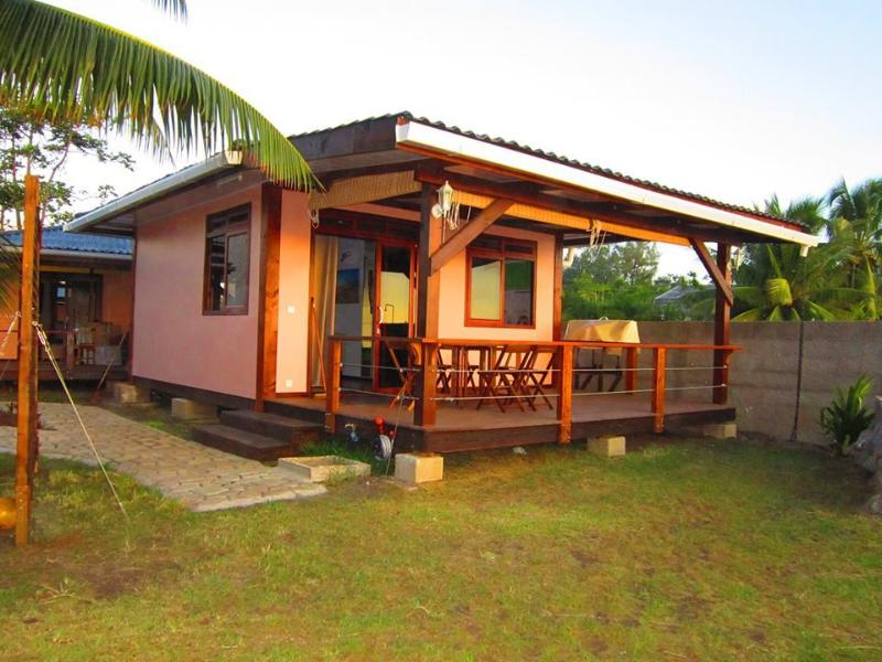 The Matahina Bungalow. She is sea front and has a fantastic ocean view