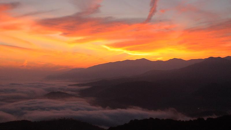 Sunrise over the mountains from your balcony - worth getting up early