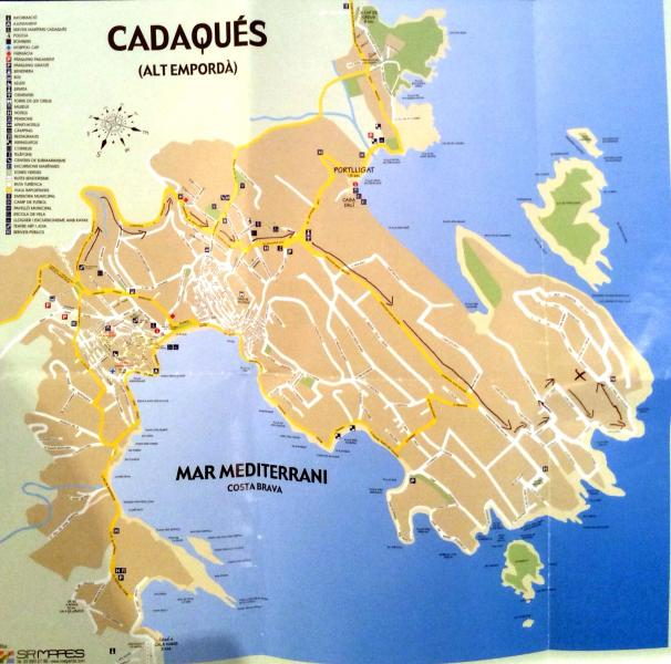 Map of cadaques X where house is