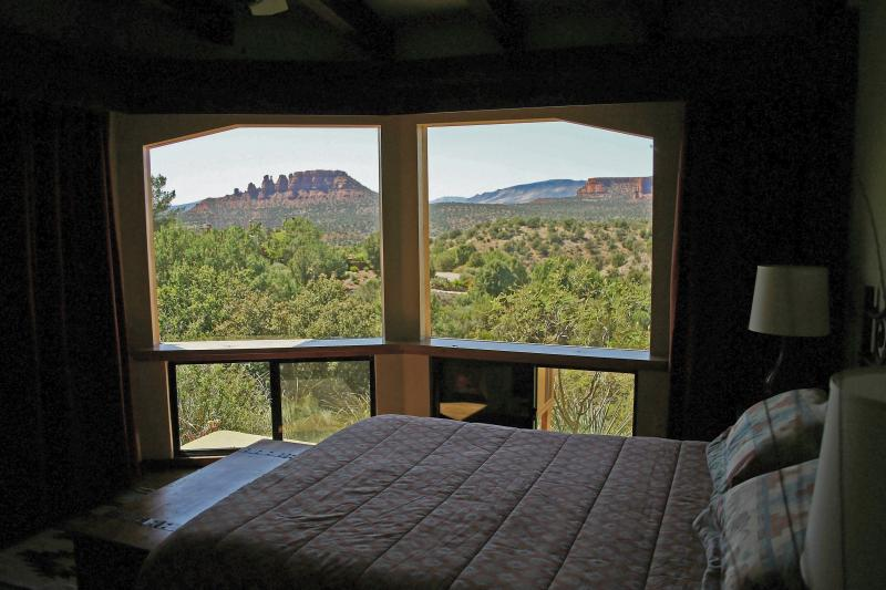...and a magestic view of Cockscomb Butte to gaze out onto!