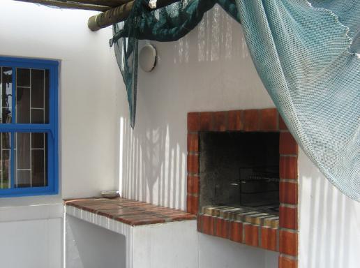Patio with braai