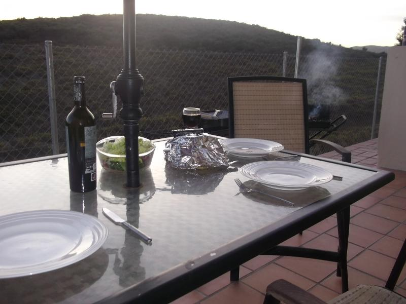 view from rear terrace. perfect Al fresco dining.  Miles of countryside across rolling hills.