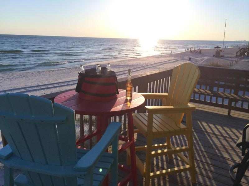 Grill, watch the sunsets, enjoy the ocean all from your back deck!