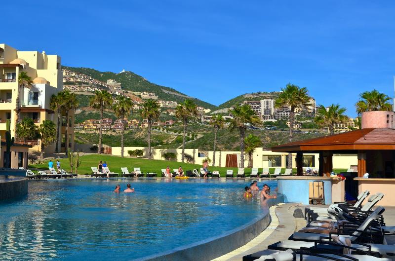 A view of Montecristo Villas from the Pacifica Pool