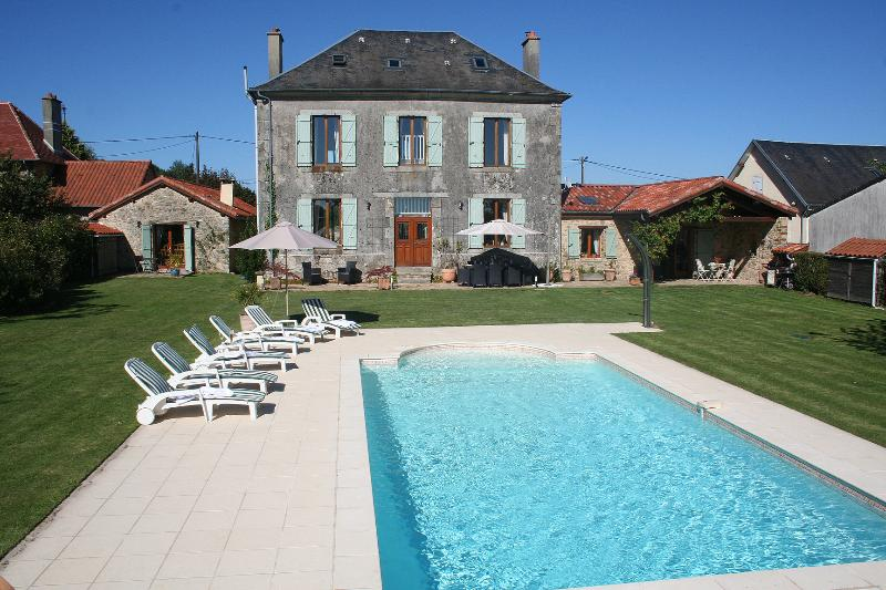 The Ancienne Mairie and Converted Barn with heated pool and south facing gardens