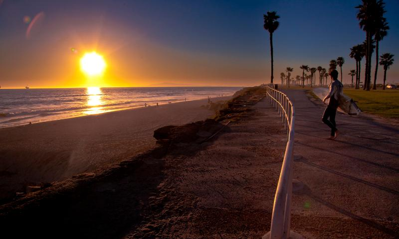 minutes from the house--world class beach and surf, miles of paved bicycling trails.
