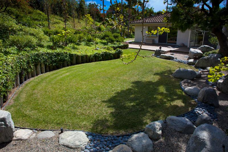 back of the Japanese garden that surrounds the house