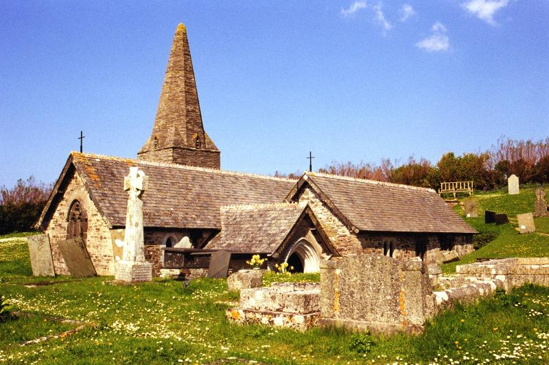 St.Enodoc church dating back to 12th century. Virtually buried by the dunes for 3 and 1/2 centuries