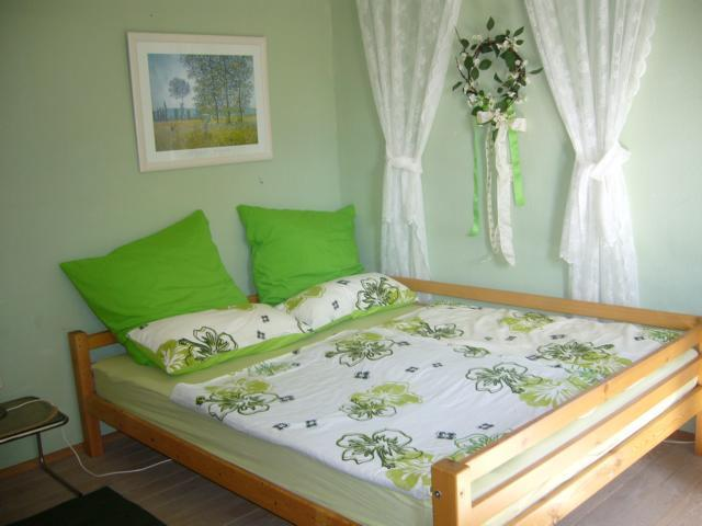 bedroom with comfortable doublebed (1,60 x 2,0 m) - for honney-moon at every age