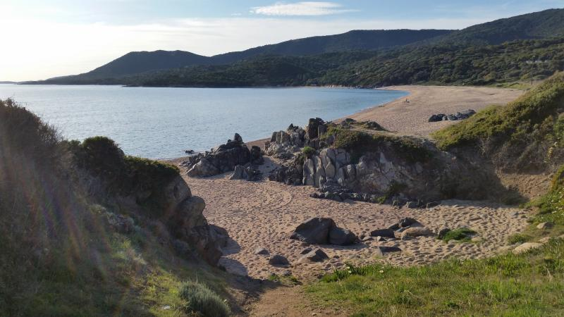 One of the beaches of the north shore of the Gulf of Valinco (5 min by car)