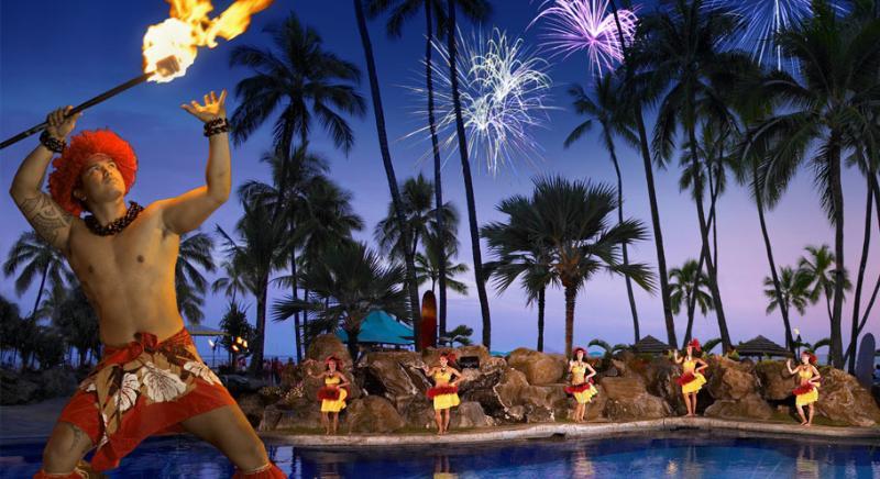 Every Friday night at Ilikai Hotel Polynesian Show followed by Fireworks