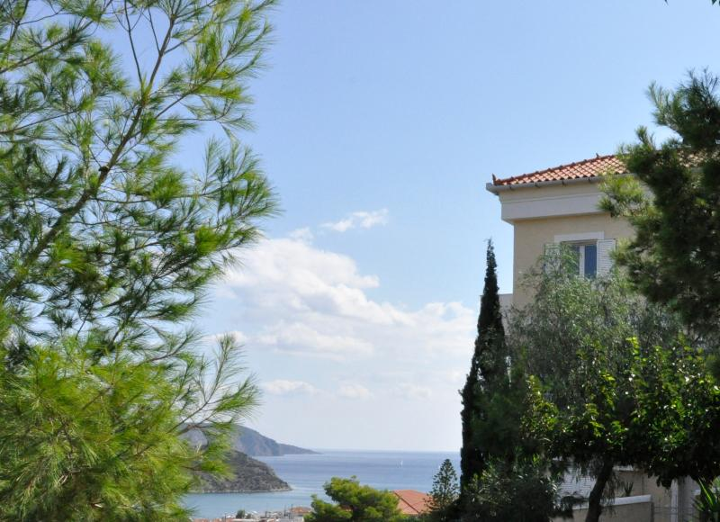 Property overlooking the village and the sea