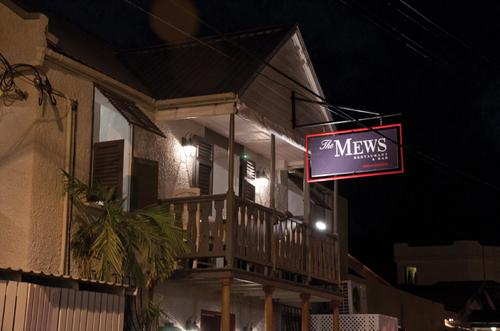 Over the road for the smart and stylish Mews Restaurant...