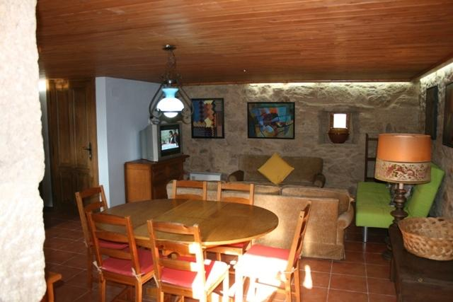 View of the living room and dining room