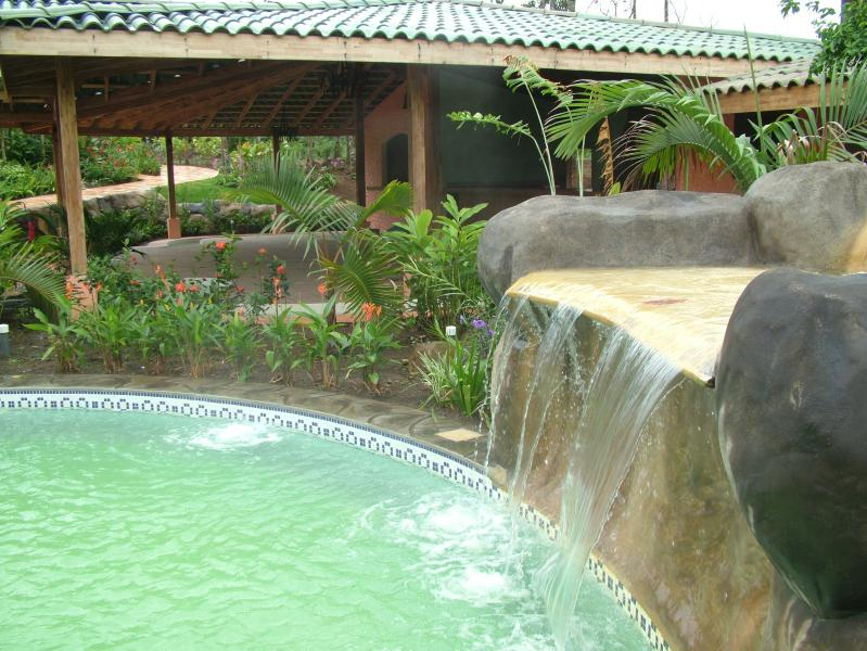 One of the Hot Springs Pools - natural mineral 'green' all differrent temperatures and designs