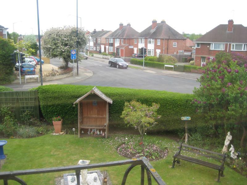 Jardín comunitario vista desde el balcón
