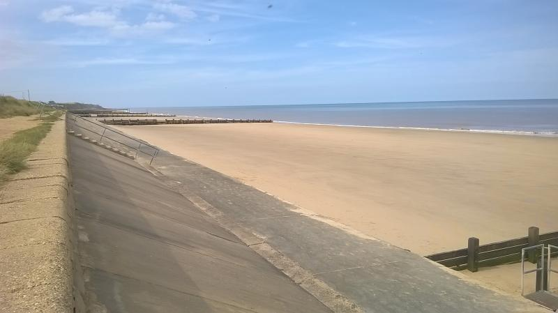 Bacton Beach on a bank holiday Monday!