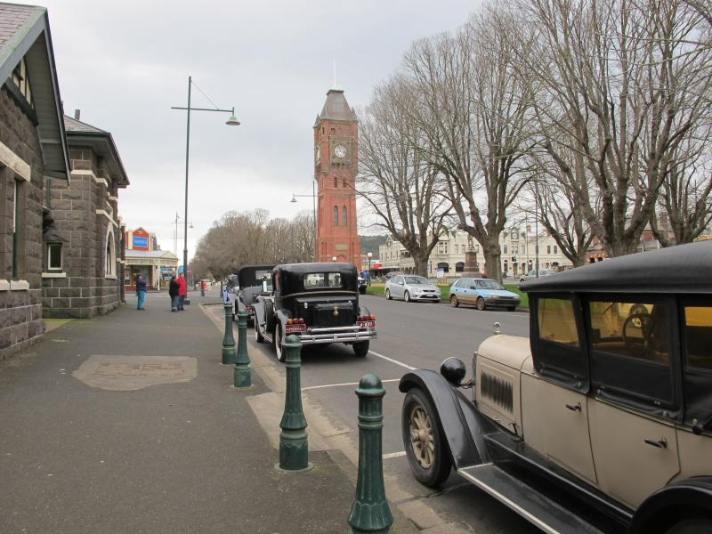 The easterly view from Edwardia driveway  onto Camperdown's Elm lined heritages listed streetscape