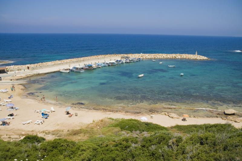 Small Beach and Fishing Port at St George (700m)