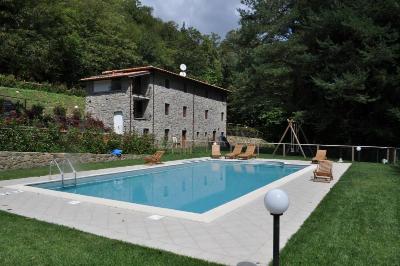 Villa Alla Marginetta from across the Fresh Spring Water Pool