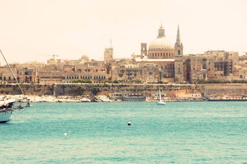 Valletta's skyline as seen from Tigne/Sliema