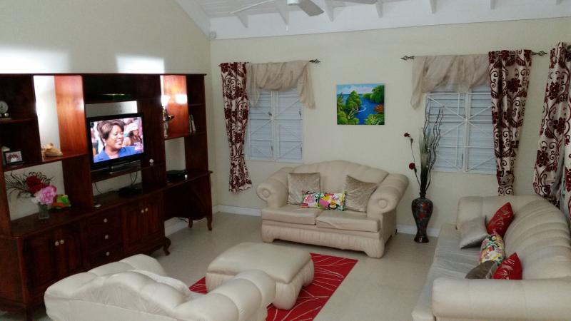 The living area.