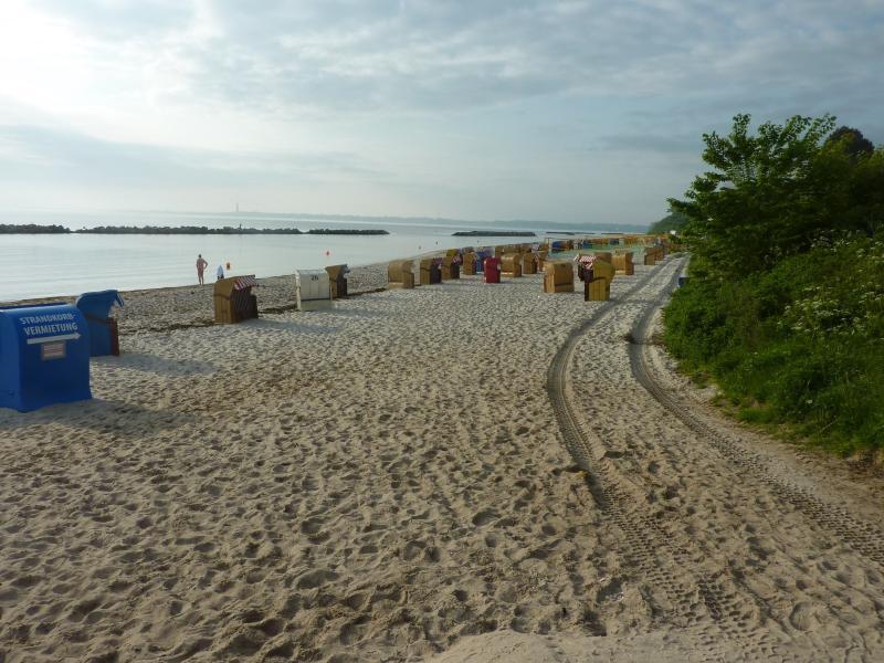 Der Strand ist keine 5 Minuten entfernt