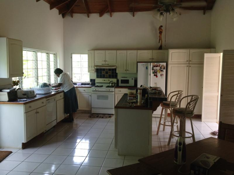 our staff will prepare meals in the large kitchen.
