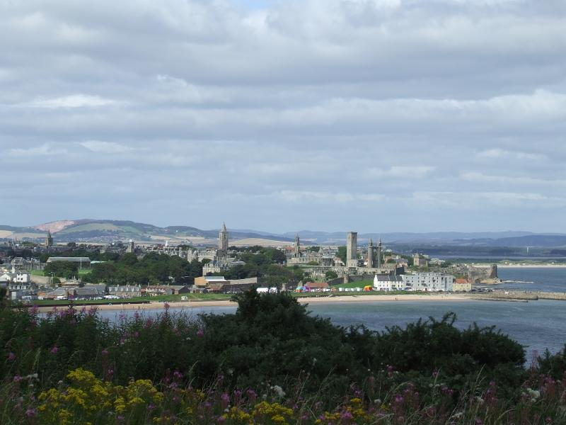 St andrews skyline view from the East sands