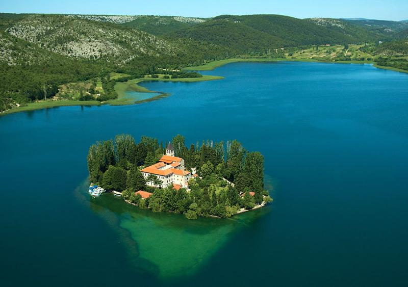 National park Krka waterfalls - Visovac-1hour drive from the apartments