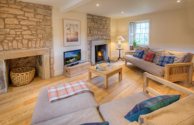 Sitting room, Keepers Cottage, with log-burning stove