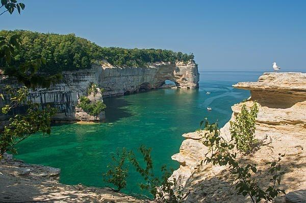Pictured Rocks Grand Portal Hiking View