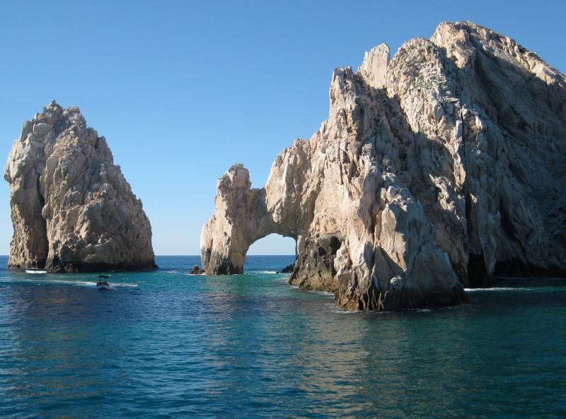Cabo's famous rock formations