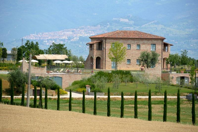 View of  the Farmhouse with Cortona in background