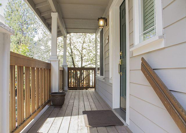 Lovely front porch with a lot of light