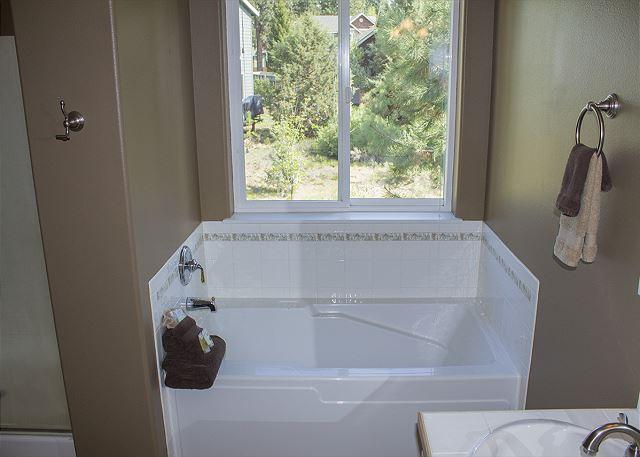 Tub in the upstairs master suite