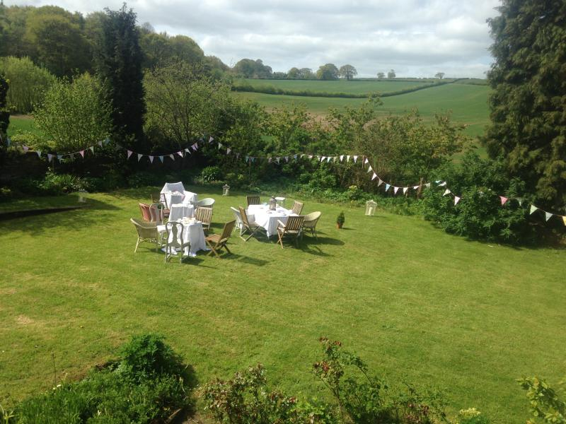 Large gardens ideal for Family parties and small weddings