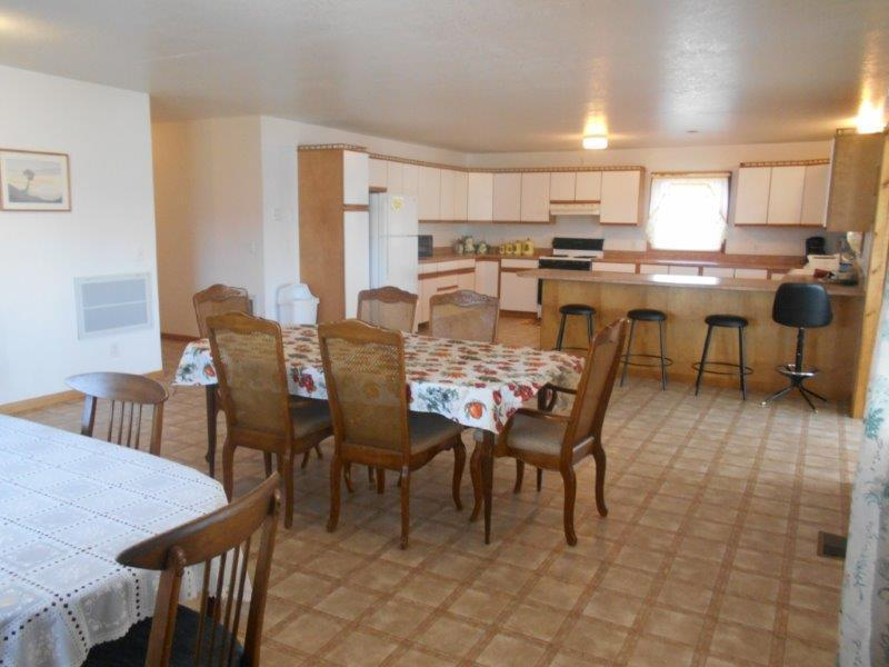 Large kitchen/dining area; plenty of space to eat, relax, craft, etc...