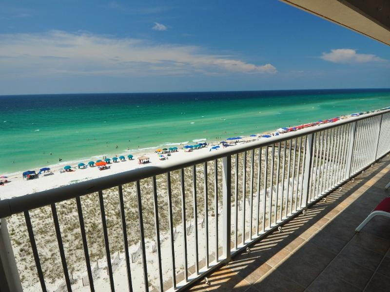 Spectacular view of Navarre Beach & Gulf of Mexico from the huge balcony (9' by 30')