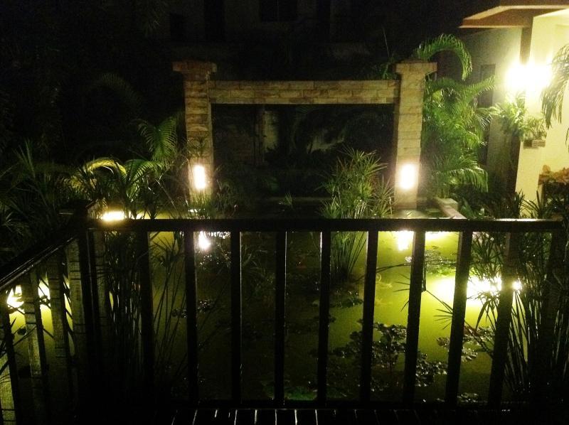 Pond and waterfall lighting....
