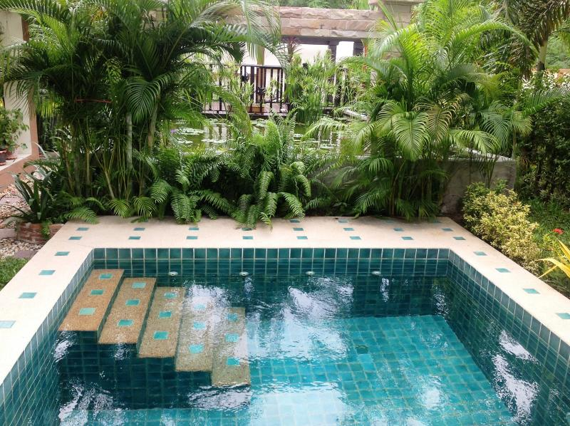 Pool - view to waterfall....