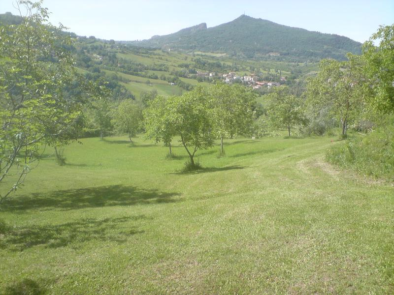 La meravigliosa vista sui monti della Val Marecchia