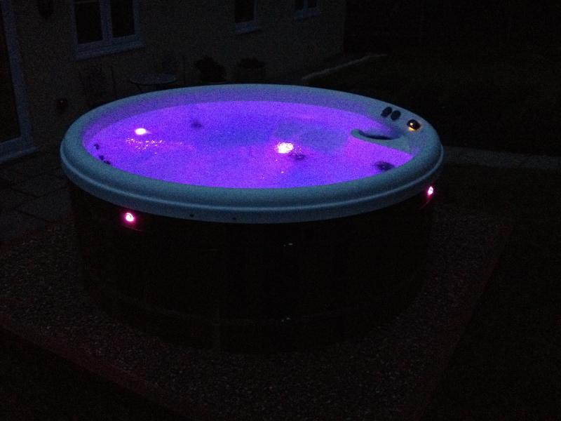 Acorns  Hot Tub LED lights setting, robes and slippers provided