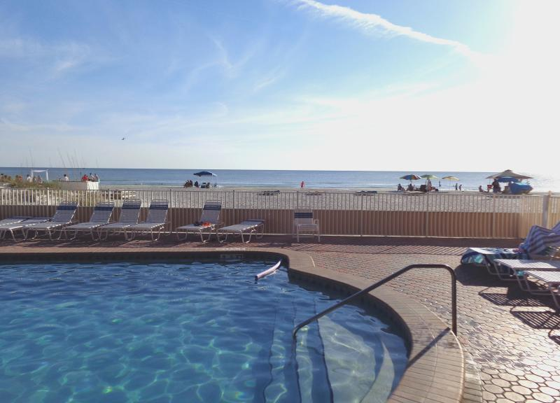 Swimming pool facing the gulf