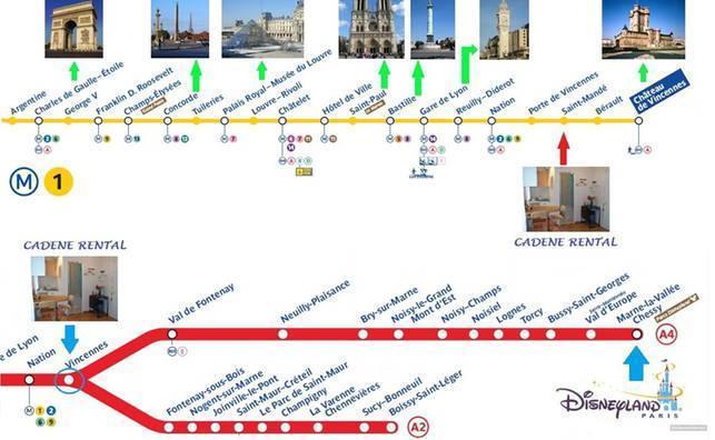 Metro- en RER plan