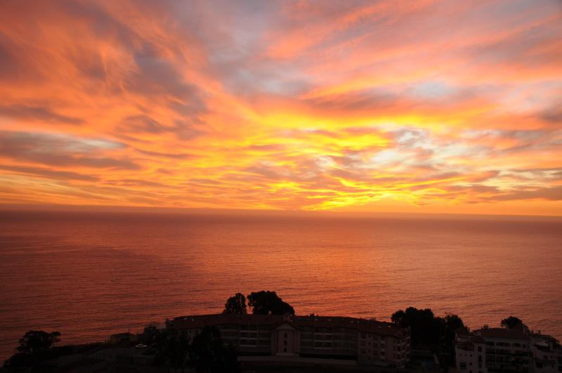 Sunset in autumn, from the terrace