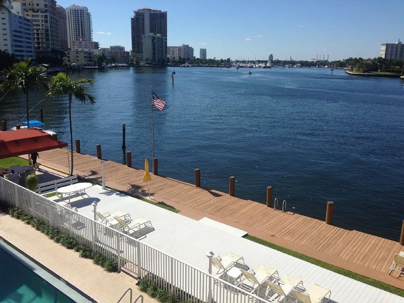 Property is located on the Intracoastal Waterway just one block from the ocean