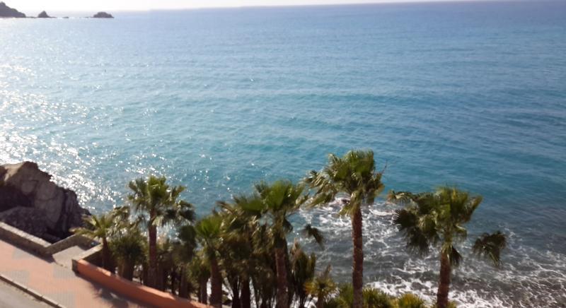Utsikt över havet från balkongen